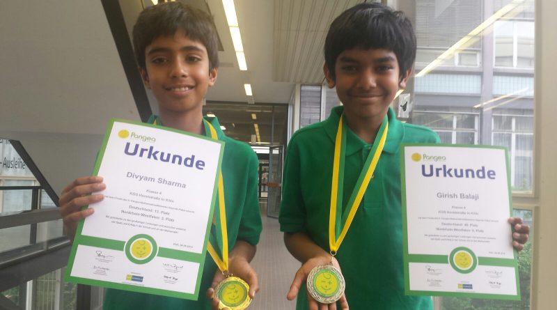 Pangea-Mathematikwettbewerb: 3. und 6. Platz!!!!